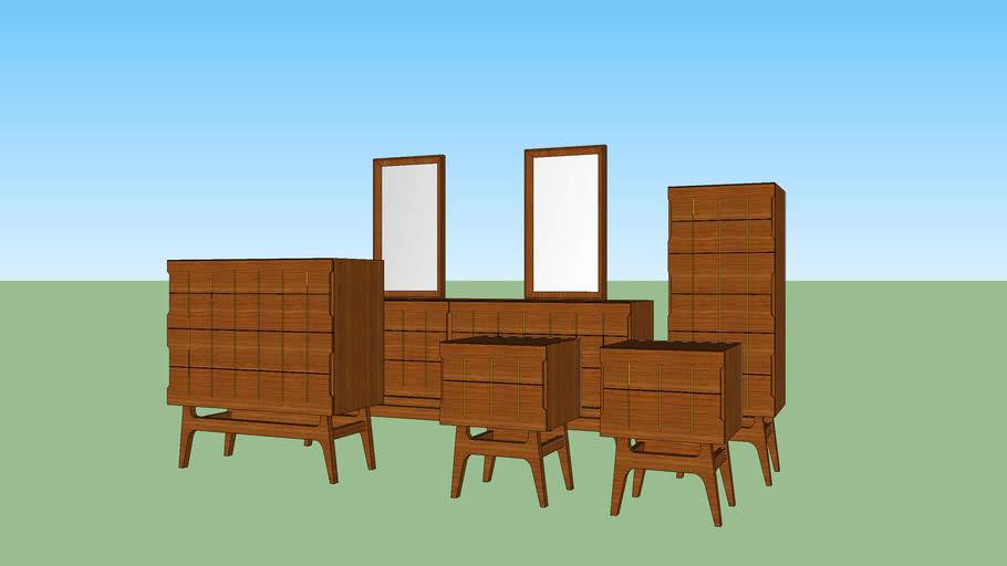 Mid Century Style BedroomSet