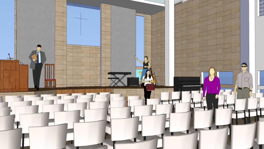五結長老教會新堂4樓會堂