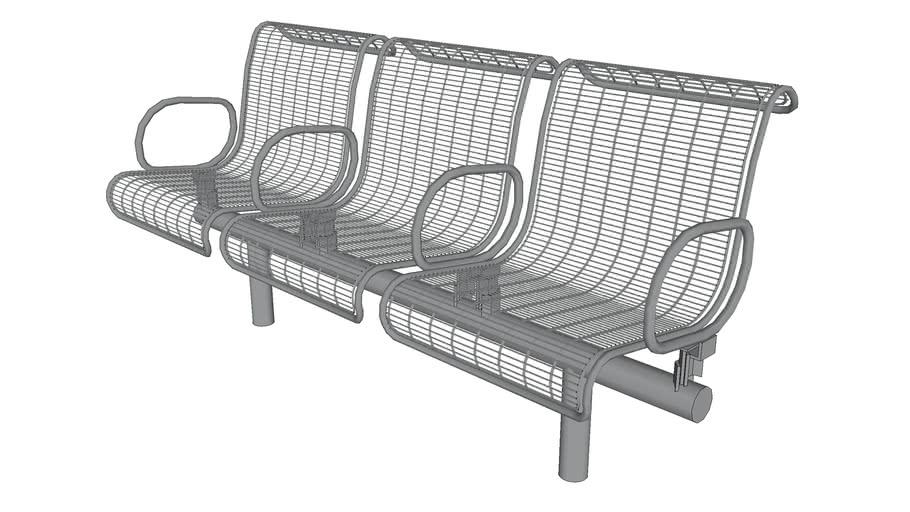 Plexus 3 Seat Bench