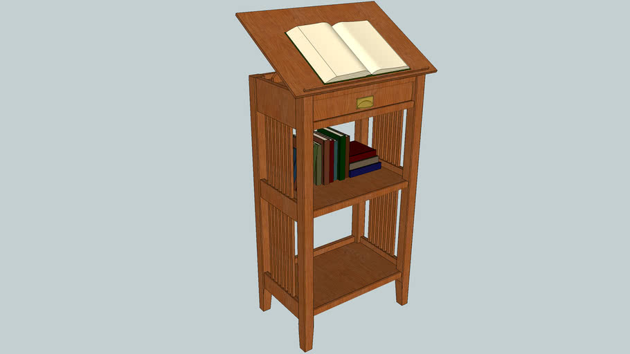 Stickley/Mission Style Library Book Stand
