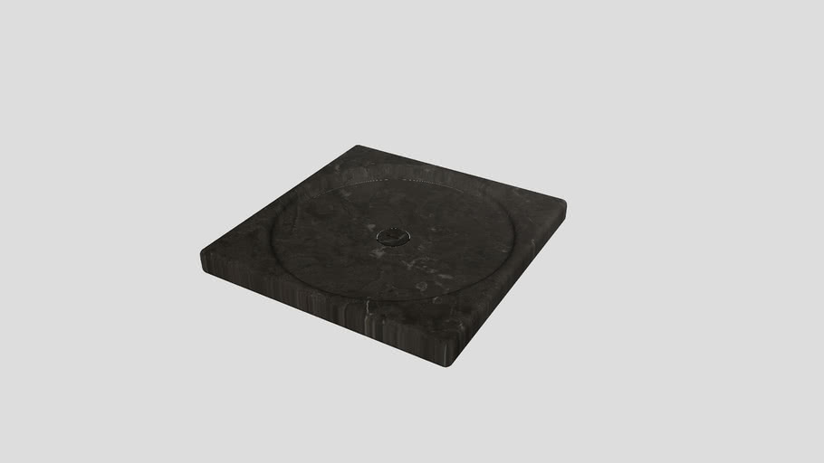 Squared shower tray in Pietra d'Avola limestone | Salvatori | Balnea 100x100cm