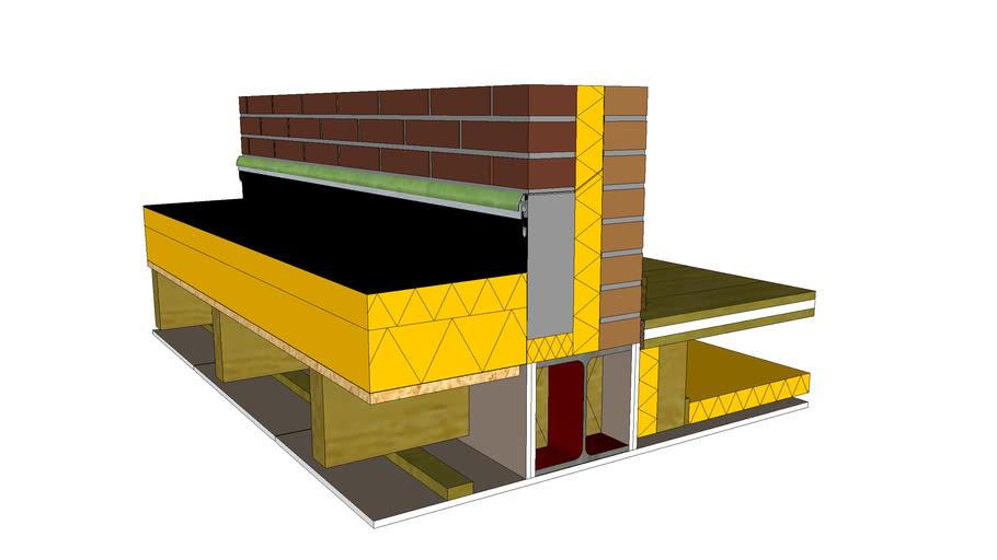 Uitbouw verdiepingsvloer (detail)