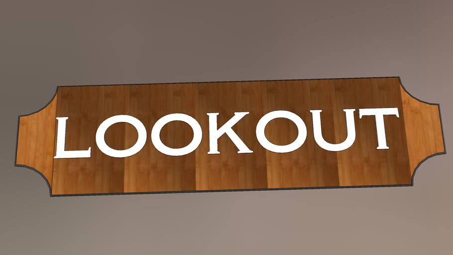 """The """"Lookout"""" Cabin logo from Twin Pines Camp"""