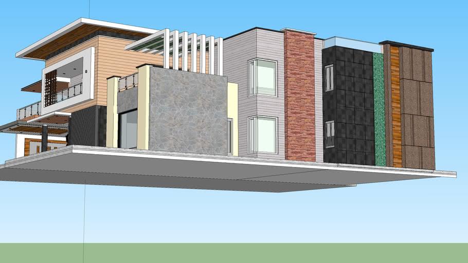 Modern villa 3d view