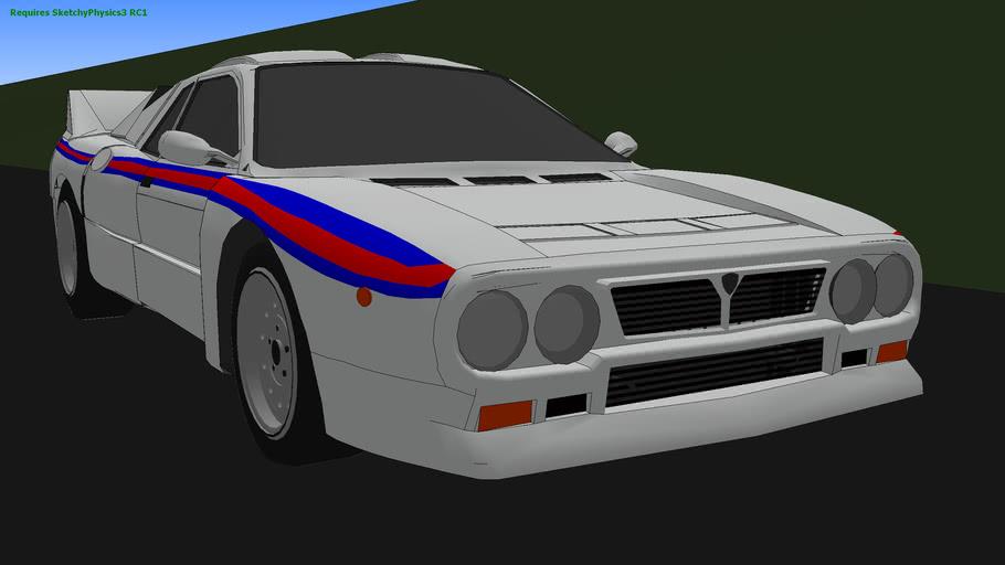 Lancia 037 Sketchyphysics