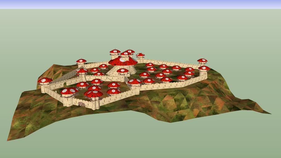 Fairy Tale Mushroom Castle