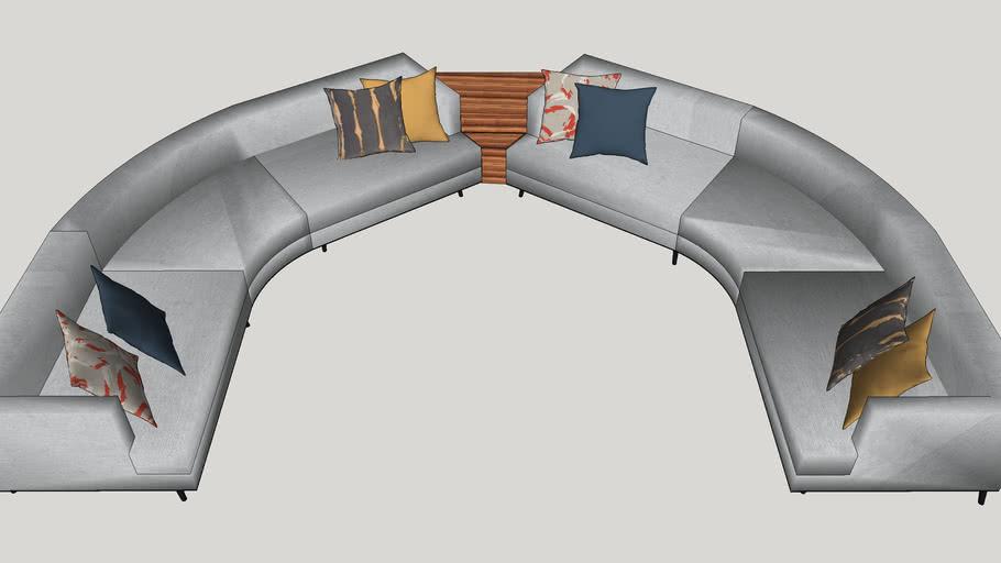 Ambella Home Custom Curved Sectional