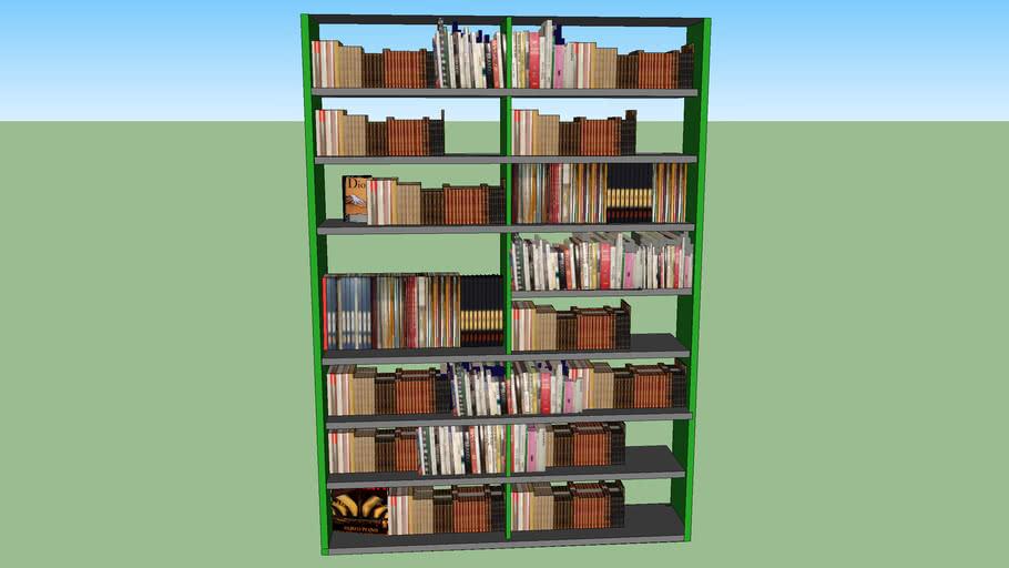 estante de livros modelo_