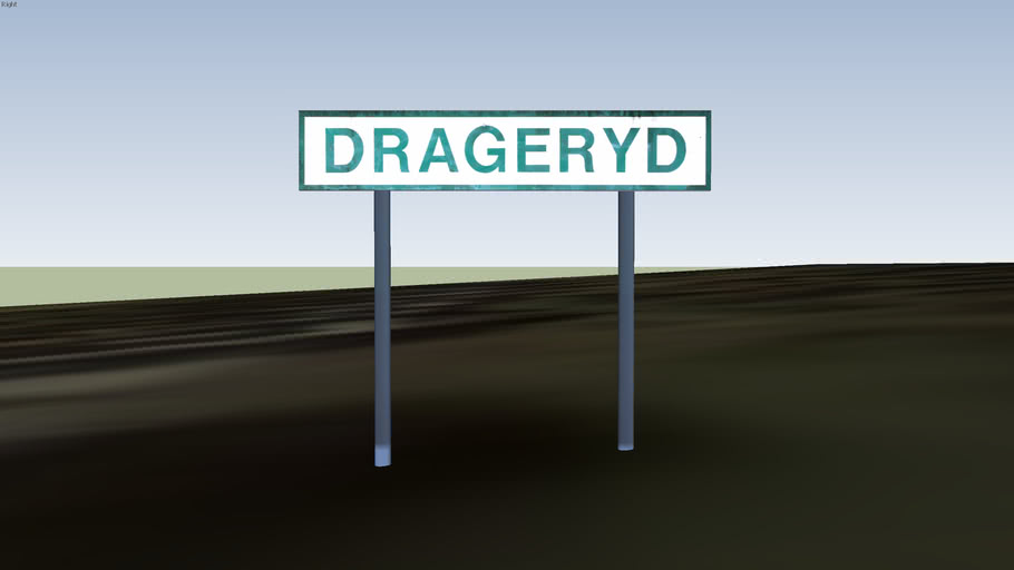 Drageryd road sign