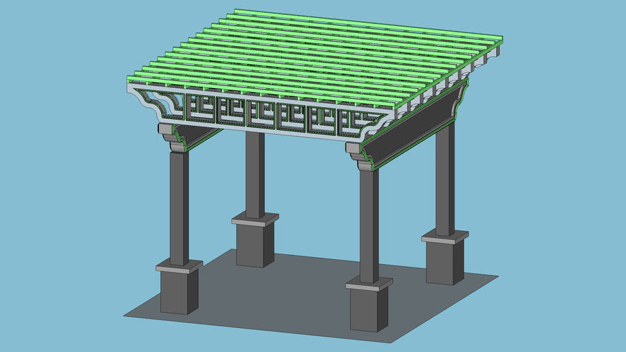 Modeling a Pergola  WITH COMPONENTS