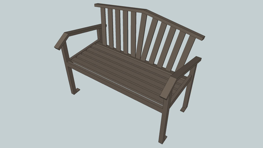 Atticus 4' Bench with Back
