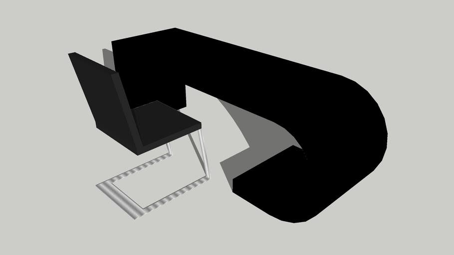 Black design desk