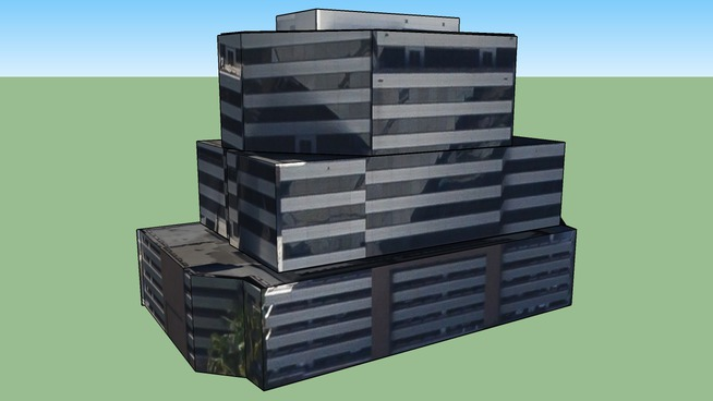美国夏威夷檀香山的建筑模型