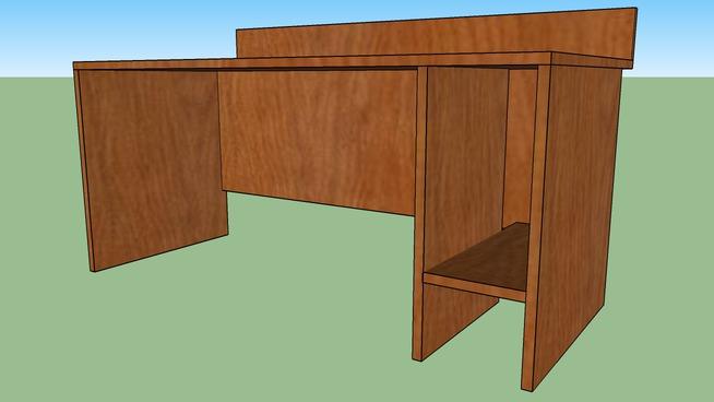 PC stůl pro 1xPC, pravý, 160x80x72,5 cm