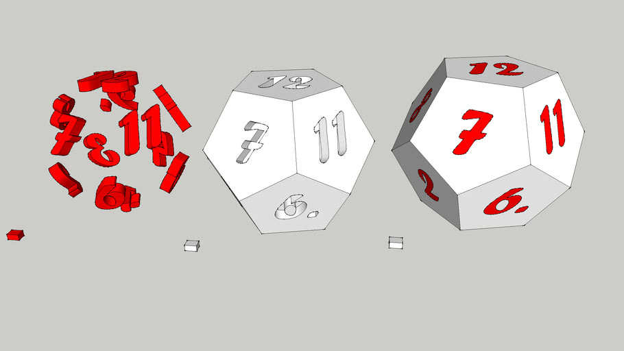 dice 12 sided dodecahedron