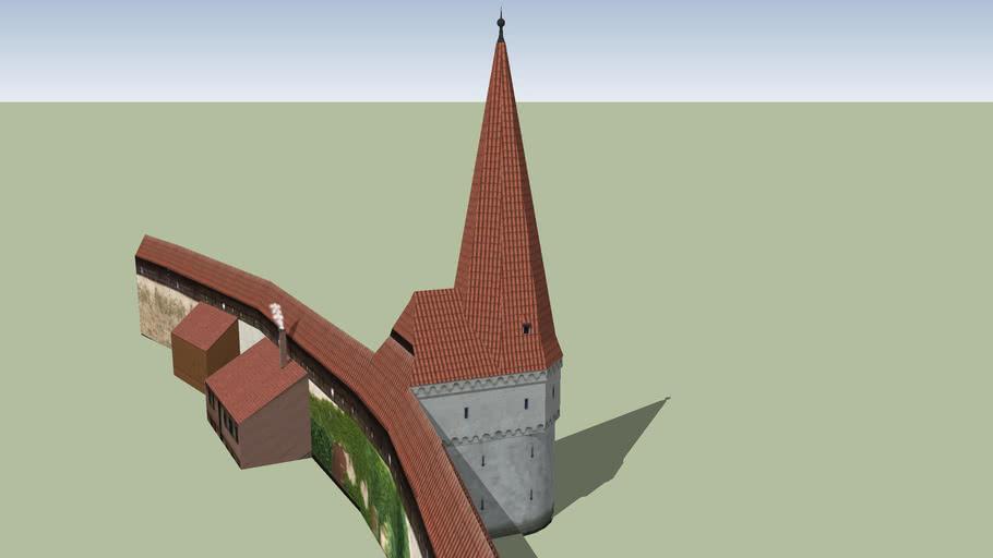 Spitzturm Nördlingen mit Stadtmauer