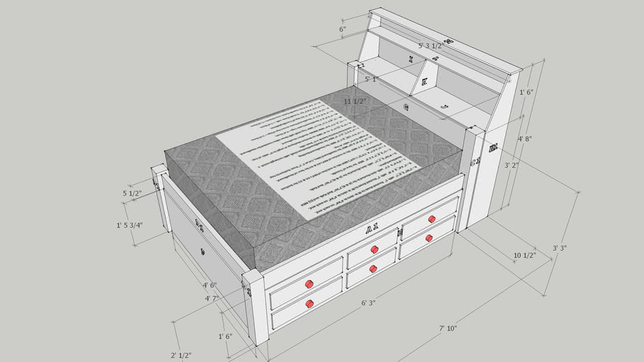 Full Size Bed with Twin Trundle (Very Nice)
