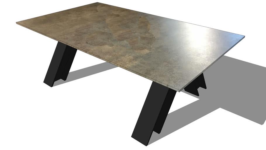 CHEVRON COFFEE TABLE, REF 369, Michel FERRAND