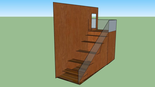 stairs with wall