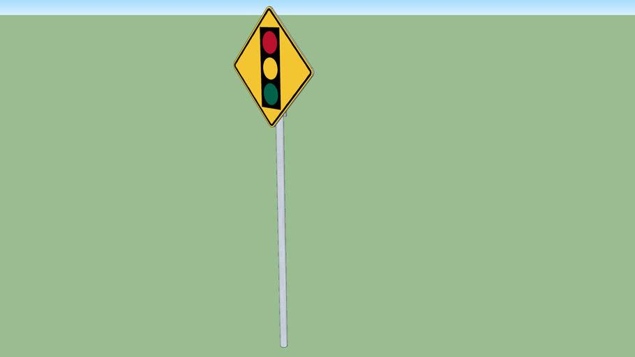 Signal ahead sign (traffic light)