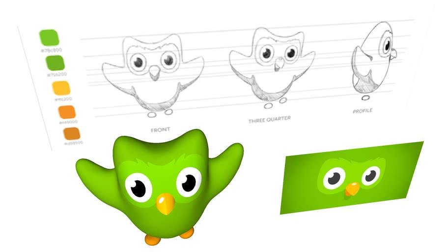 Duolingo's Owl 3D