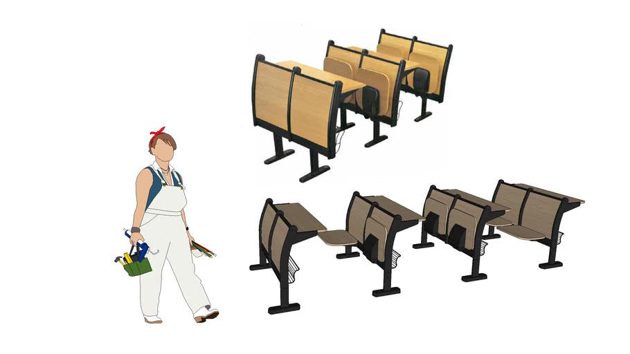 Folding school desks
