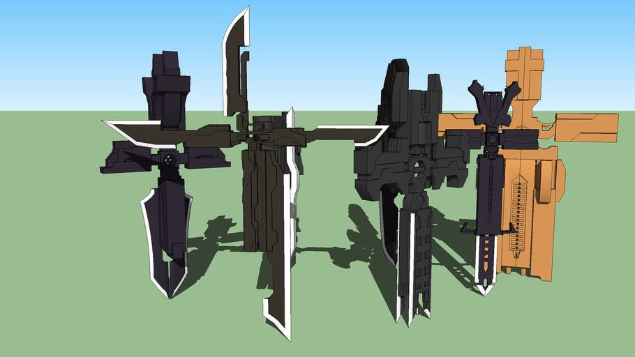 Gun Cross Sword WEAPONS