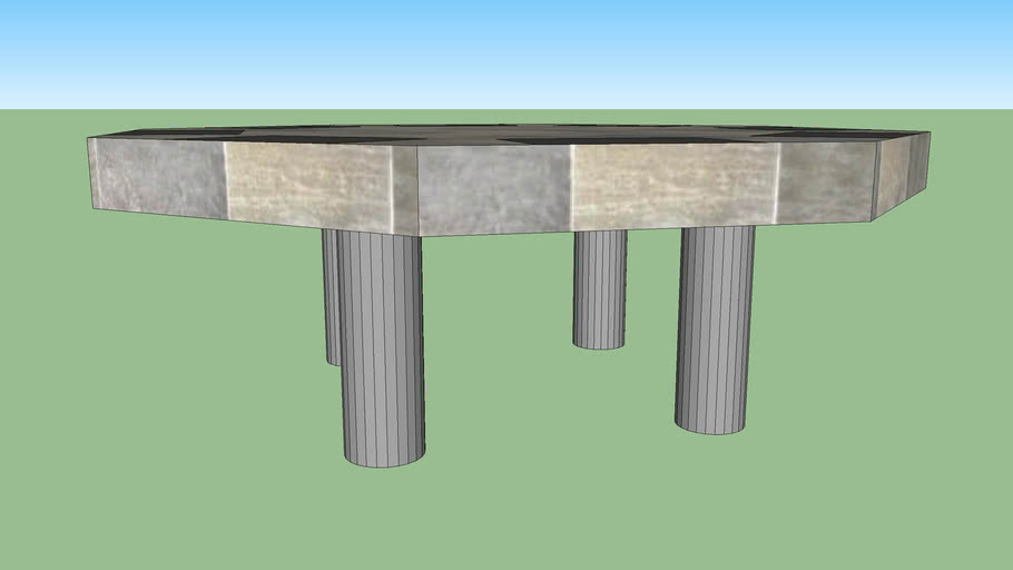 Octagonal Table with placemats