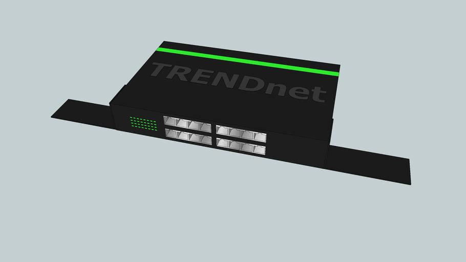 TrendNet TEG-S16Dg 16 port gigabit ethernet switch with rack mounting ta