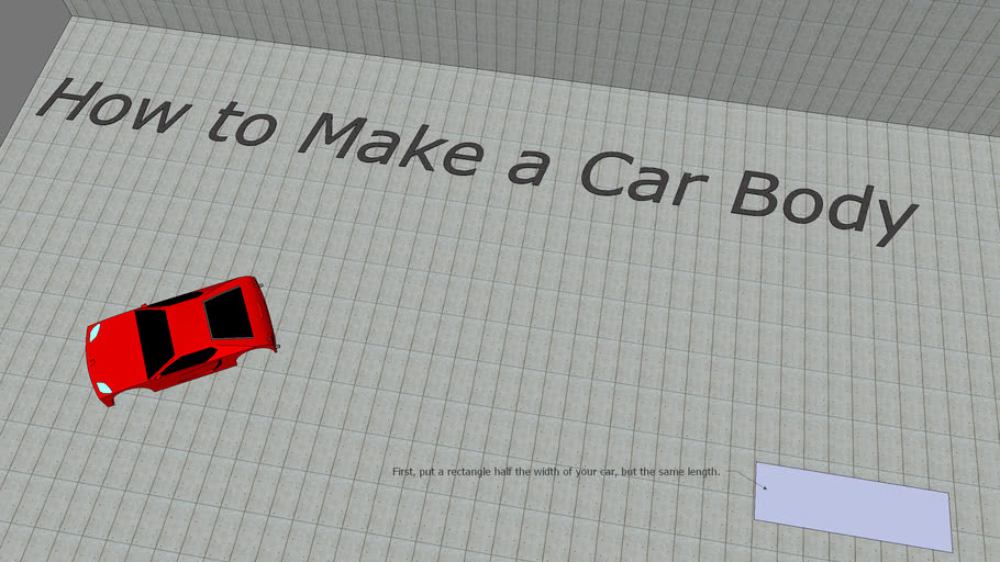 How to make a car body