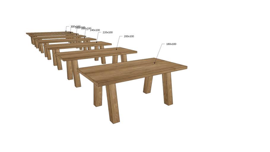 VI1Vx, Vivaldi Dining Table V Wooden Legs