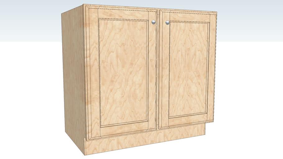 Base Full Height Double Door