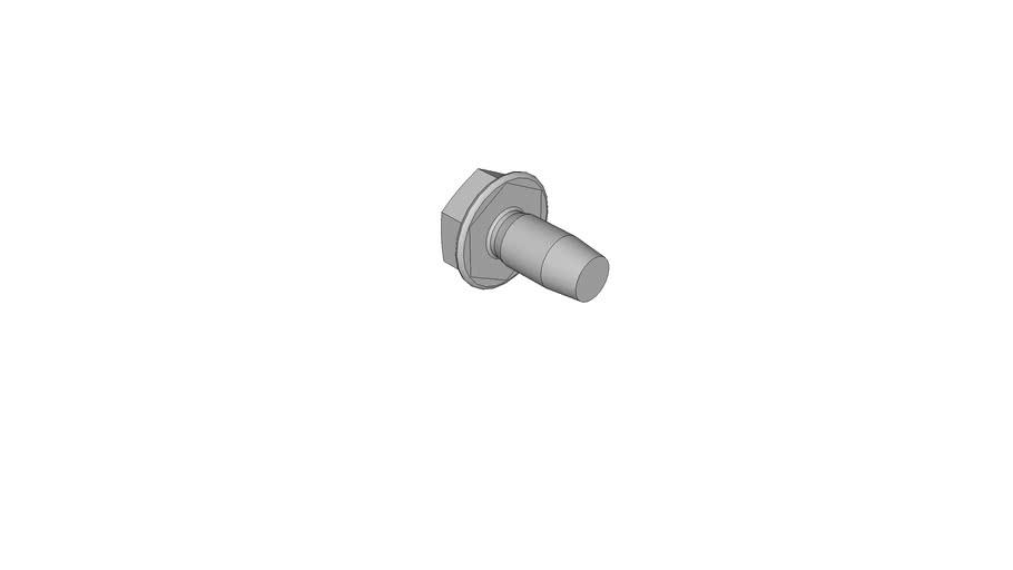 1457054201 Thread rolling hexagon flnage head screws DIN 7500 D M4x8