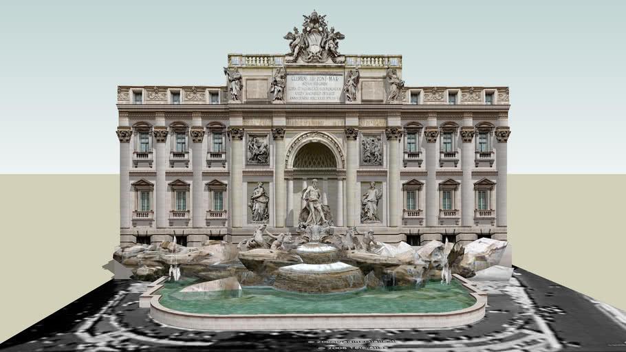 Fontana di Trevi di Roma.