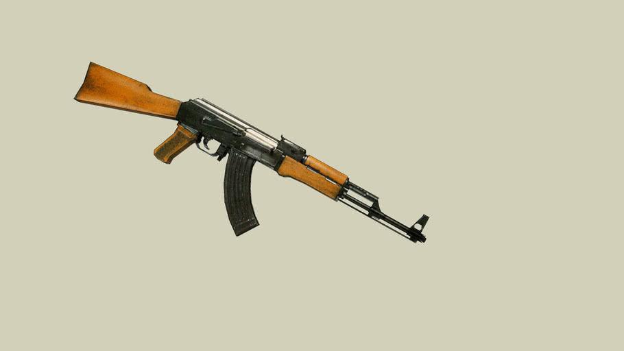 low poly ak-47