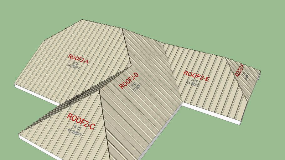 3D Metal - Complex Roof
