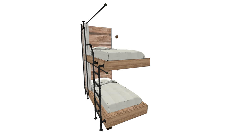 Bunk Bed With Pipe And Timber 3d Warehouse