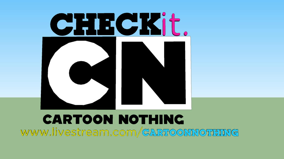 CartoonNothing logo, tagline, and webpage