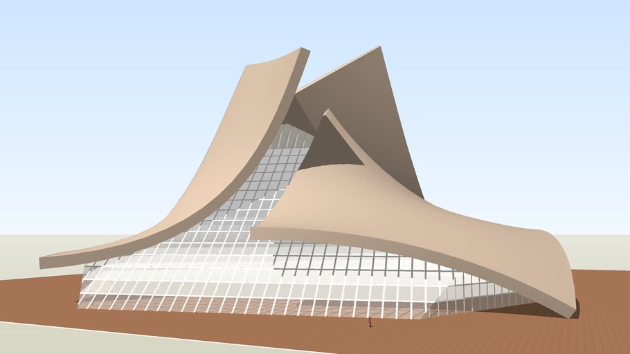 Curved Roof Experiment 3d Warehouse
