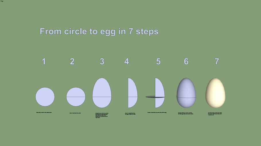 From circle to egg in 7 steps