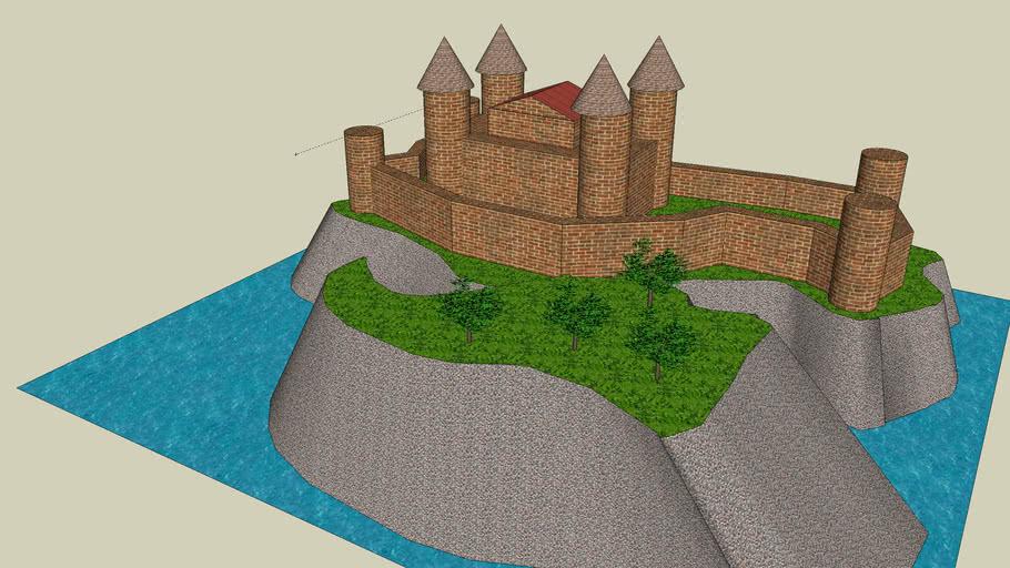 castelo na ilha