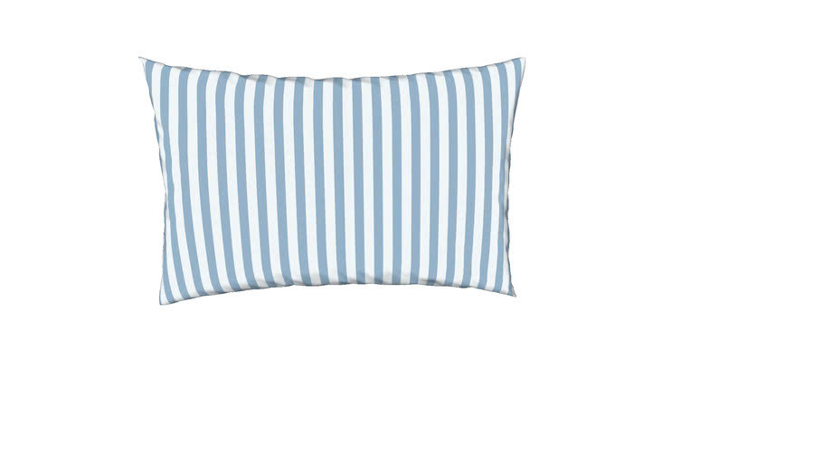 """blue and white striped pillow 12"""" x18"""" light blue"""