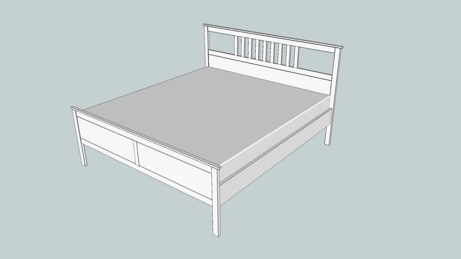 Ikea Hemnes Bedbank.Ikea Hemnes Bed Frame 180x200 Cm White Stain 3d Warehouse
