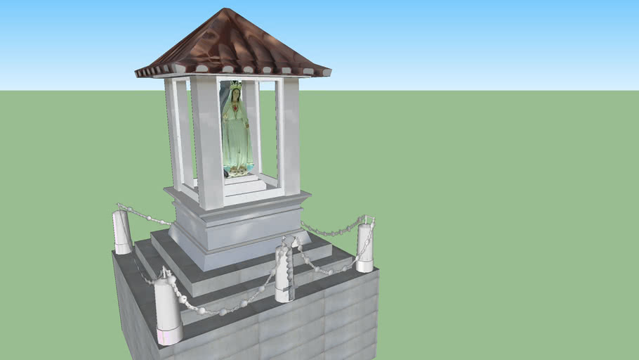 Modelo 3D do Monumento da Imaculada de Lisboa
