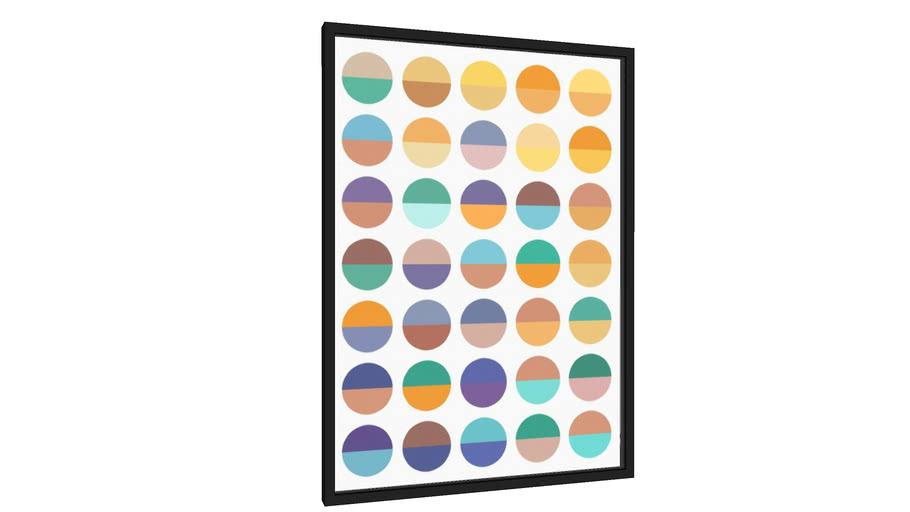 Quadro Círculos coloridos - Galeria9, por Arte Decor