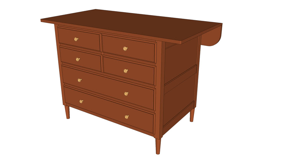 Shaker Tailor's Cabinet from Popular Woodworking Magazine July 2006