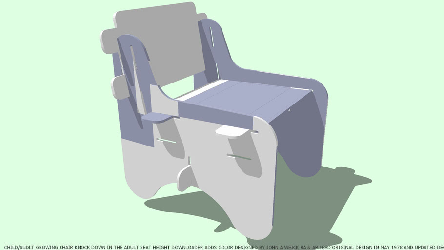 CHAIR CHILD/ADULT GROWING YOU CHOOSE COLOR BY JOHN A WEICK RA & AP LEED