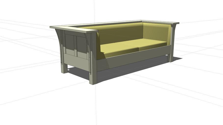 L. & J.G. Stickley No. 220 Prairie Sofa