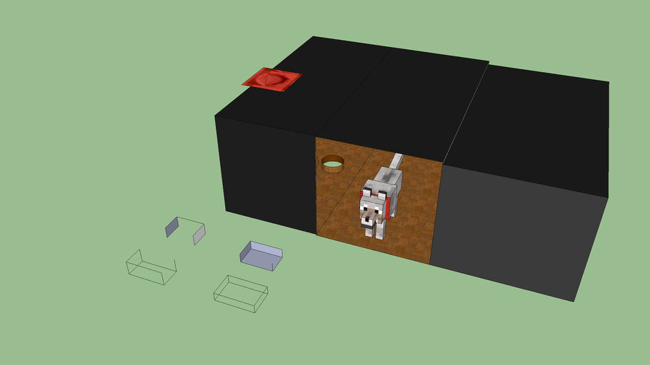 minecraft dog house!