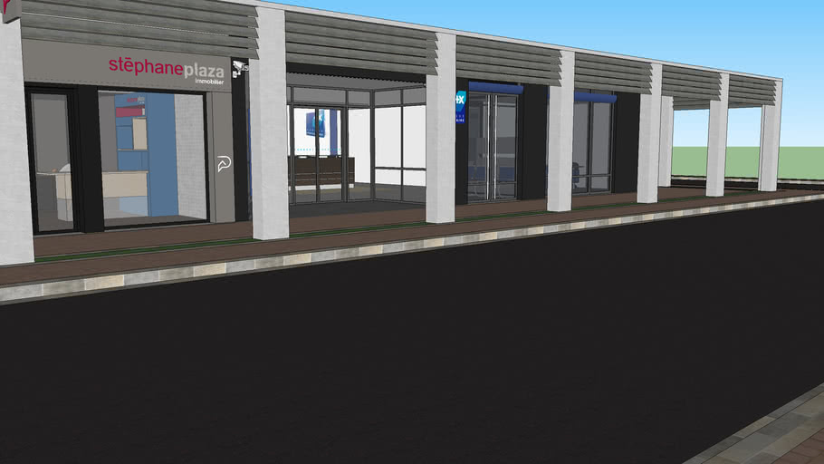 Banque Agence Immobiliere 3d Warehouse